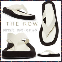 THE ROW Ginza Platform Sandals Natural And Black 関送込み