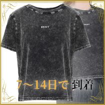 SEAL◆DKNY WASHED BABY TEE Athletic tops