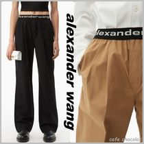 【Alexanderwang】pull-on pleated pant ロゴウエスト パンツ