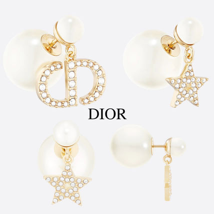 DIOR TRIBALES EARRINGS RISIN PEARLS AND CRYSTALS