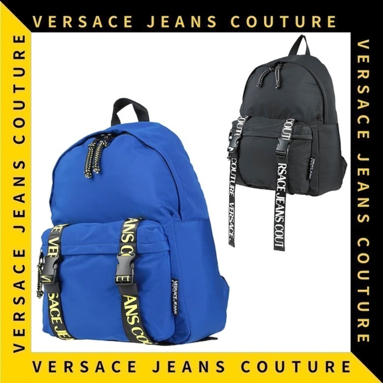 【Versace Jeans Couture】ベルトロゴ ファスナー バックパック (VERSACE/バックパック・リュック) 66781882