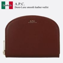 A.P.C. Demi-Lune smooth leather wallet