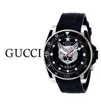 破格値 GUCCI(グッチ)  Dive Rubber Black Dial Men's Watch