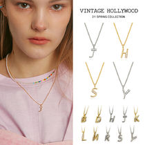 VINTAGE HOLLYWOOD★My Little Initial Necklace★韓国大人気★