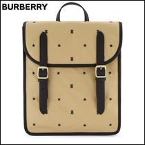 【Burberry】 Logo Embroidered Bag Archive Beige