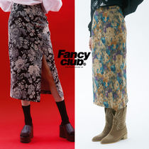 ★NASTY FANCY CLUB★送料込み★FLOWER PATTERN SLIT LONG SKIRT