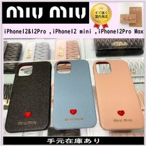 すぐ届く大人気!*miumiu*iPhone12&12Pro,12mini,12ProMaxケース
