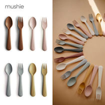 mushie ムシエ フォーク+スプーンセット [追跡送料込]