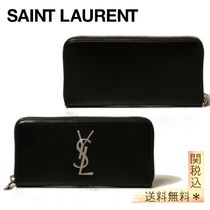 【SAINT LAURENT】 wallet in leather with YSL monogram