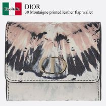 Dior 30 Montaigne printed leather flap wallet