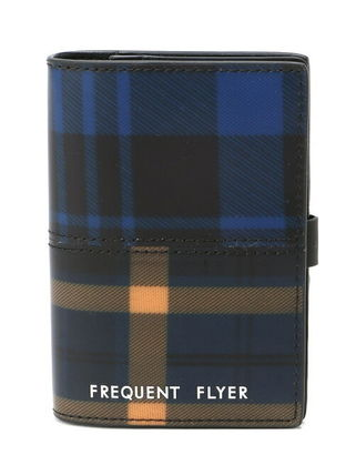 【FREQUENT FLYER】(U)Wallet タータン青黄×タータン青