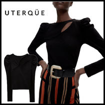 【Uterque】CUT OUT LONG SLEEVE T-SHIRT