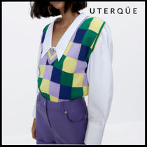 【Uterque】CHECK KNITTED VEST