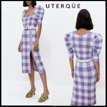 【Uterque】CHECK KNIT SWEATE+CHECK KNIT SKIRT