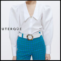 【Uterque】POPLIN SHIRT WITH PLEATED DETAIL