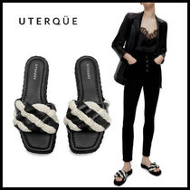 【Uterque】BRAIDED SANDAL WITH PEARLS