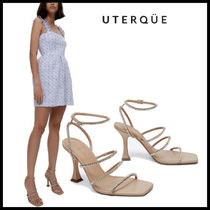 【Uterque】STRASS LEATHER HEELED SANDAL