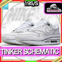 NIKE AIR MAX 1 TINKER SCHEMATIC SKETCH TO SHELF WHITE