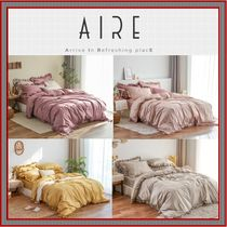 [AIRE] The Day Frill Pure Cotton Mat Cover Set SS ★人気★
