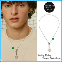 【VINTAGE HOLLYWOOD】Swing Daisy Charm Necklace〜ネックレス