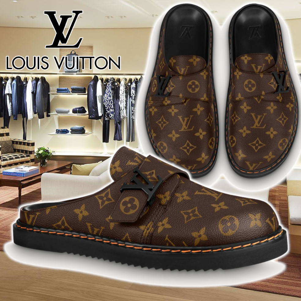 21FW【LV】ルイヴィトン LVイージー ライン ミュール ブラウン (Louis Vuitton/サンダル) 1A8WI7/1A8WI8/1A8WI9/1A8WIA  1A8WIB/1A8WIC/1A8WID/1A8WIE  1A8WIF/1A8WIG/1A8WIH 1A8WII