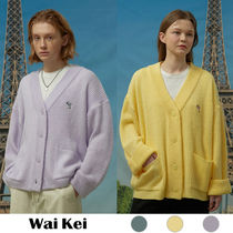 ★WAI KEI★送料込み★Dolphin embroidery over fit cardigan
