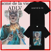 ☆【acme'delavie】☆BABY FACE SLEEVE T-SHIRT BLACK SHOCK.S☆