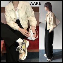 ☆AAKE☆ 人気ジャケット COMELY LEATHER JK (ivory / black)