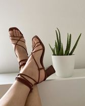 ☆& Other Stories☆Leather Strappy Lace Up Heeled Sandals