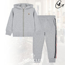 【VIP SALE】MONCLER☆ロゴラインパーカー 上下セット 12/14A