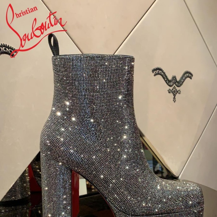 2021SS オシャレ Christian Louboutin Stage Boot Strass 110mm (Christian Louboutin/ブーツ) 1210438I382