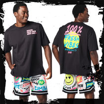 ◆MEN'S SET UP①◆Serving Fresh Vibes Tee+ Zumba Pop Shorts