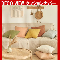 ★DECO VIEW★ Comfort solid linen cushion cover クッション