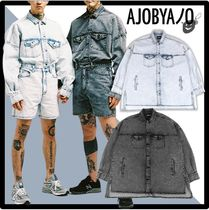 AJO AJOBYAJO(アジョ バイ アジョ) シャツ ★関税込★AJOBYAJO★Oversized Washed Denim Trucker Shir.t★