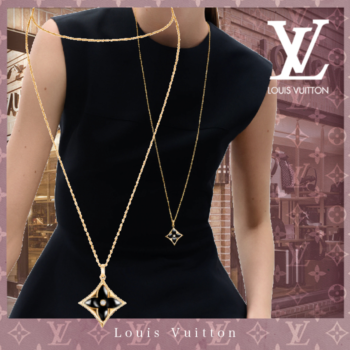 21SS直営LV★新作★COLOR BLOSSOM XL MEDALLION/YELLOW GOLD♪ (Louis Vuitton/ネックレス・ペンダント) Q93818