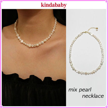 【kindababy】mix pearl necklace〜ミックスパールネックレス