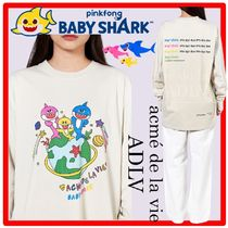 PINKFONG BABY SHARK X ADLV☆WORLDWIDE FAMILY Long Sleev.e