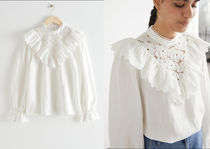 【& Other Stories】Ruffled Embroidery Overlay Blouse 送料込
