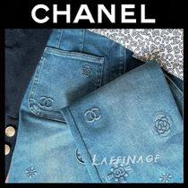 完売必須!カタログ登場CHANEL Embroidered Washed Denim Blue