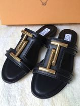 VIPセール40%オフ【TODS DOUBLE T LEATHER FLAT SANDAL】