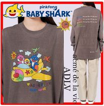 ☆【PINKFONG BABY SHARK X ADLV】☆FLYING FAMILY Long Sleev.e