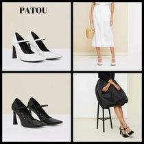 Patou Mary Jane pumps in faux patent leather 2色  国内発送