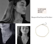 [VINTAGE HOLLYWOOD]Margaret Pearl Layered Necklace /  461643