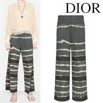 DIOR FLARED JEANS WITH TIE & DIOR MOTIF