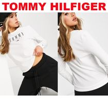 Tommy Jeans 長袖ロゴTシャツ ホワイト
