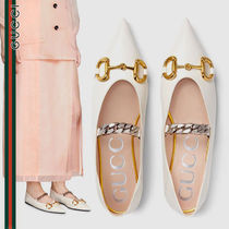GUCCI グッチ  leather ballet flat with Horsebit シューズ