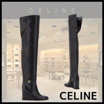 CELINE セリーヌ MANON OVER THE KNEE LEATHER BOOTS ブーツ