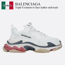 Balenciaga Triple S trainers in faux leather and mesh