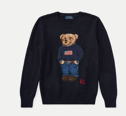 即納POLO Ralph LaurenBOY(大人OK)PoloBear Cotton-SweaterFlag
