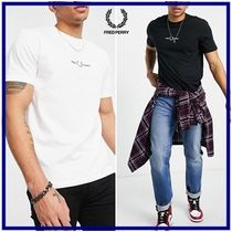 ☆Fred Perry☆ロゴ刺繍クルーネック半袖Tシャツ 関税・送料込